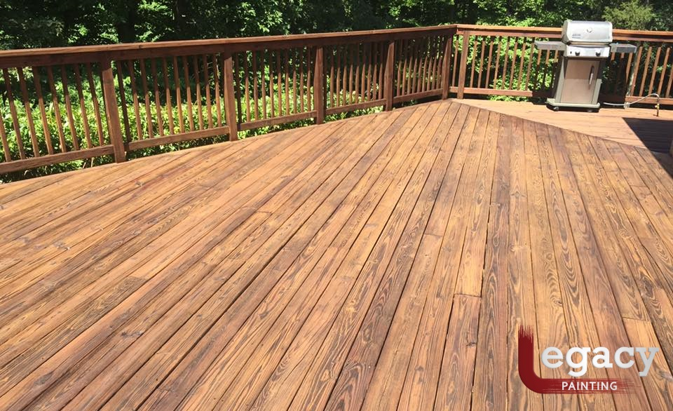 Deck staining legacy painting for Indianapolis painting company