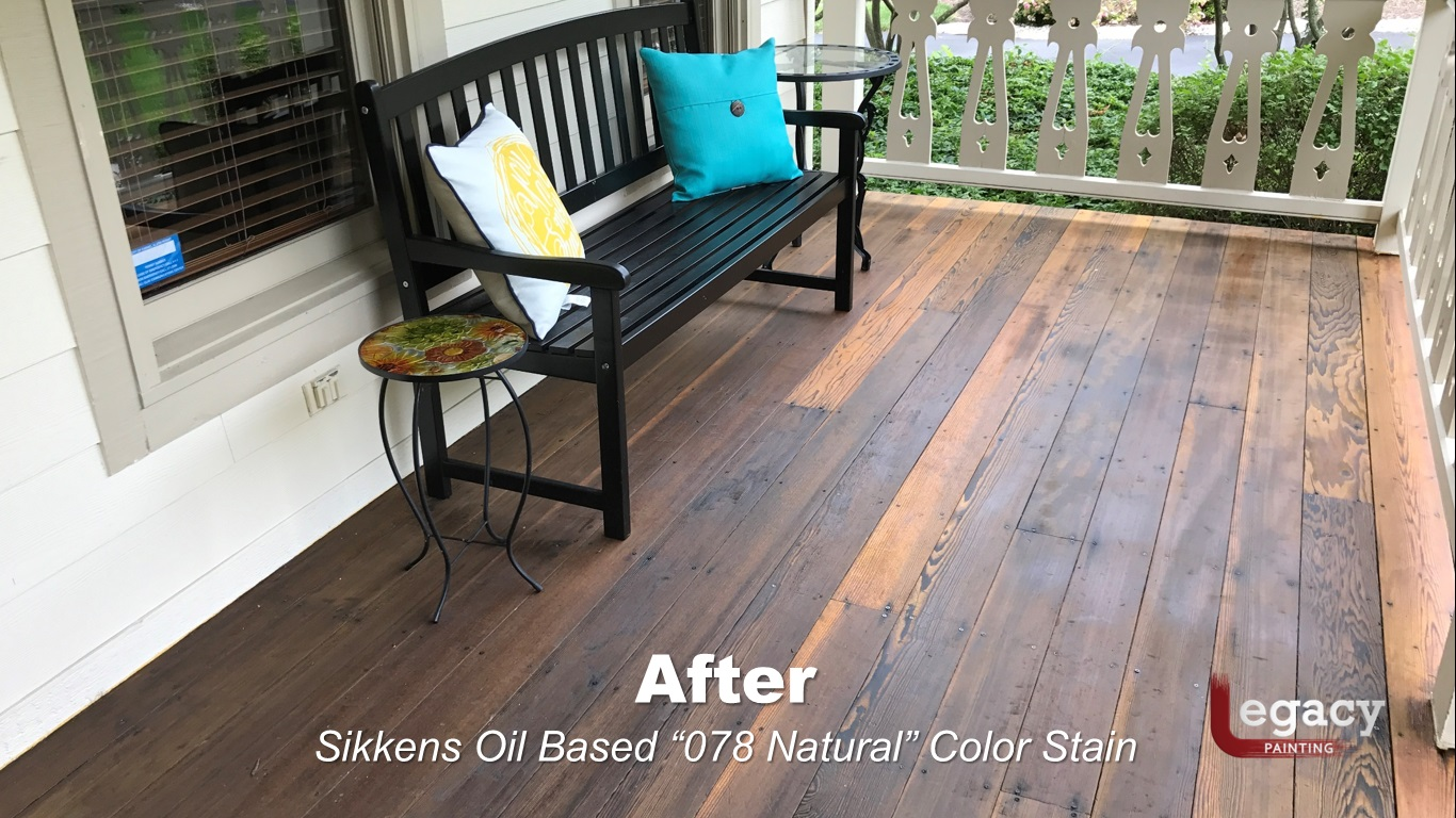 redwood deck staining carmel in legacy painting. Black Bedroom Furniture Sets. Home Design Ideas