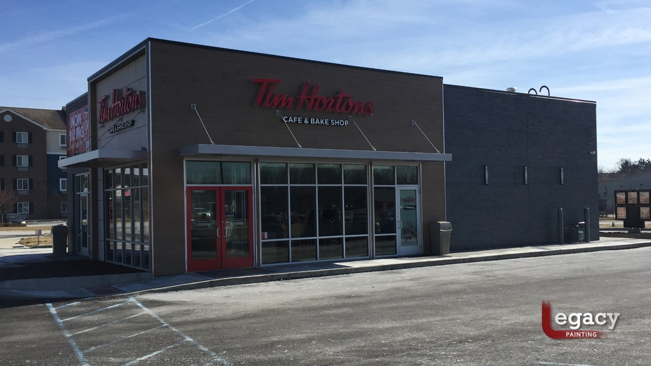Tim hortons legacy painting Exterior commercial painting